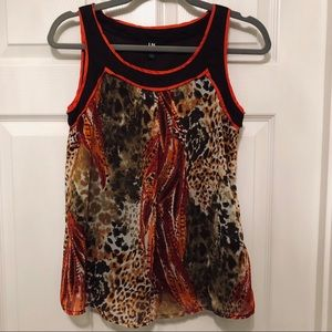 I.N. San Francisco Colorful Scoop Neck Tank Top